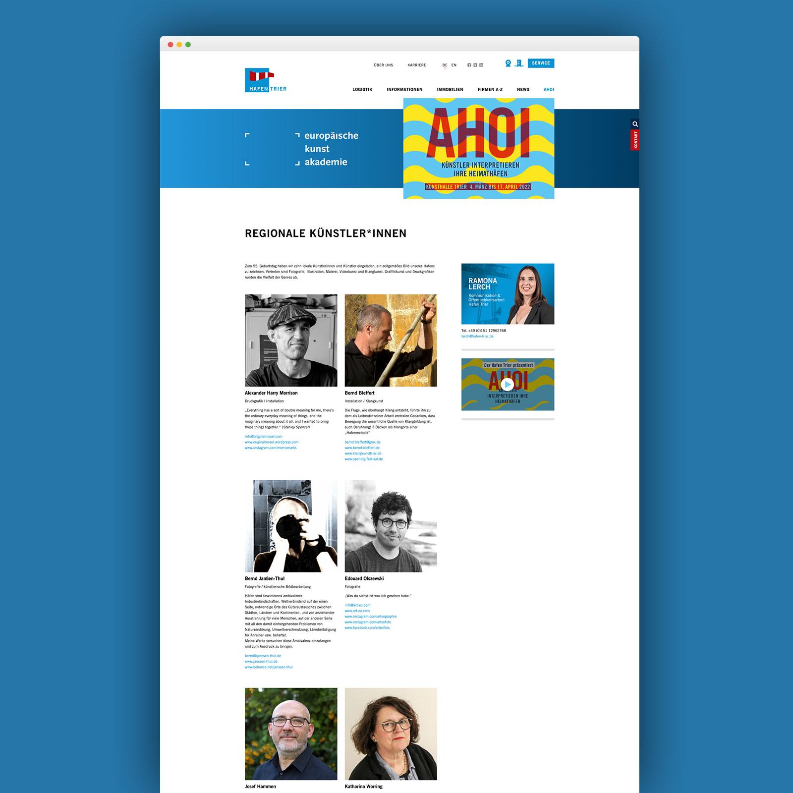 Webseite Hafen Trier