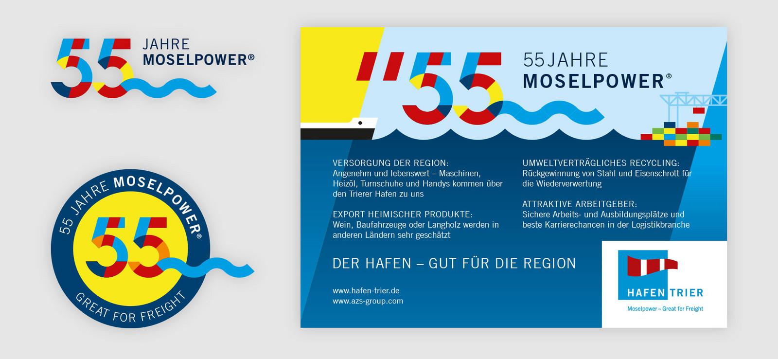 Jubiläums-Branding Hafen Trier