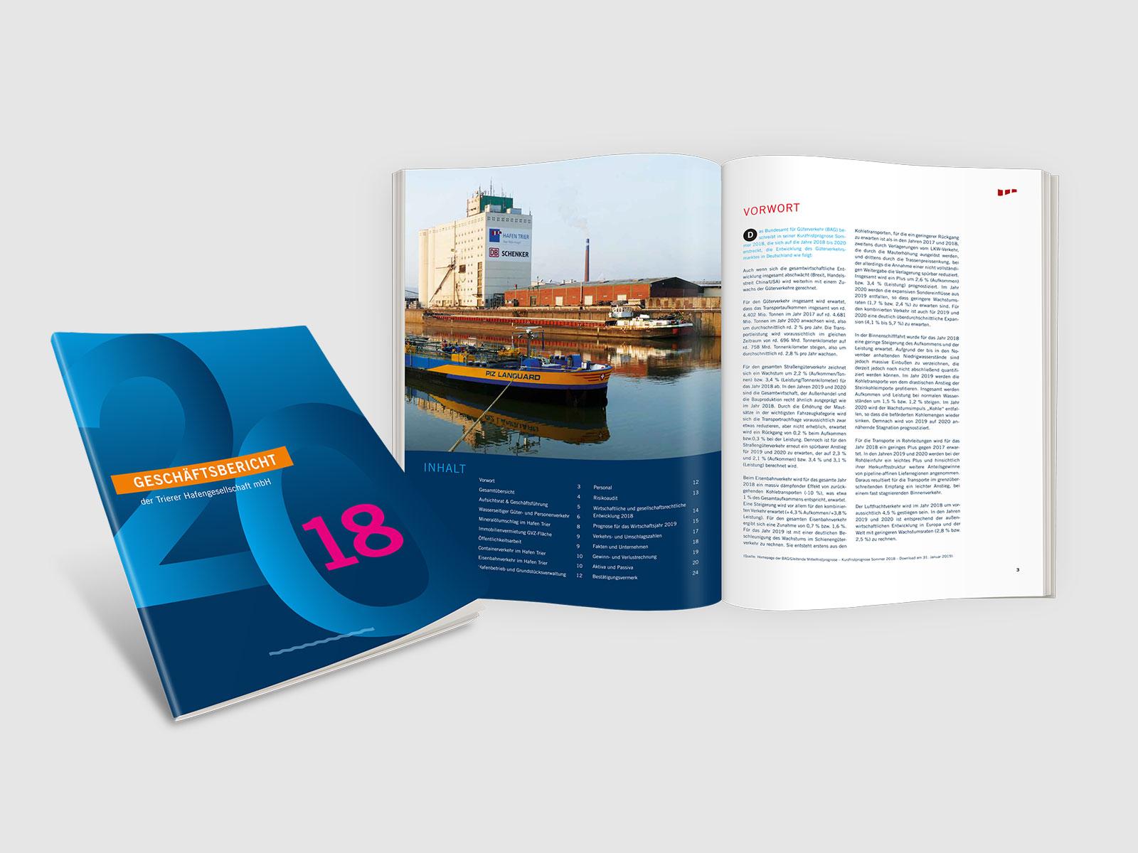 Geschäftsbericht Hafen Trier
