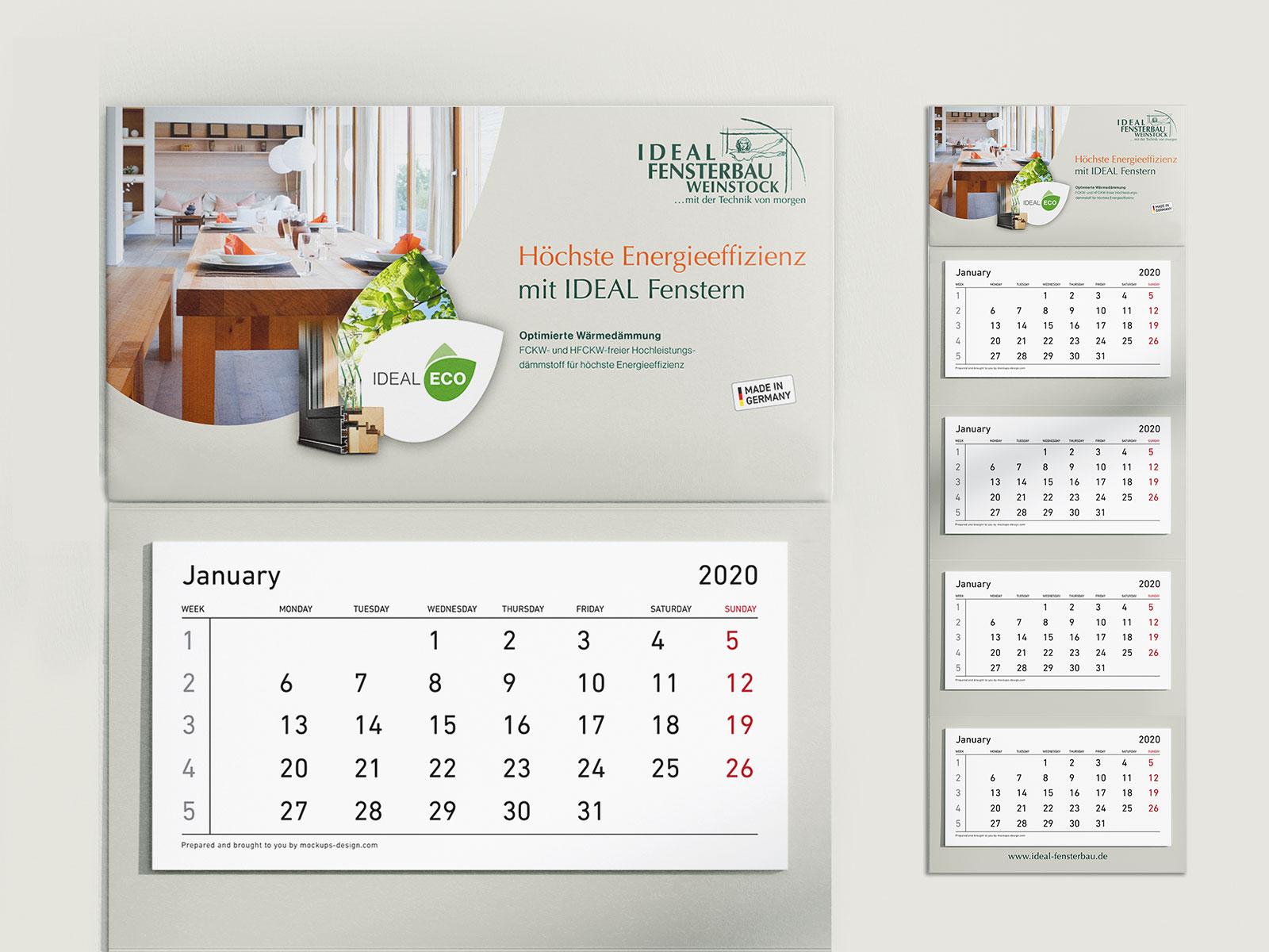 IDEAL 4-Monats-Kalender